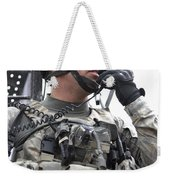 U.s. Army Soldier Communicates Weekender Tote Bag