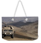 U.s. Army Soldier Provides Security Weekender Tote Bag
