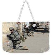 U.s. Army Soldiers Providing Security Weekender Tote Bag by Stocktrek Images