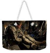 U.s. Army Specialist Practices Giving Weekender Tote Bag