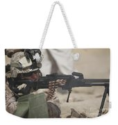 U.s. Marine Firing A Pk 7.62mm Machine Weekender Tote Bag