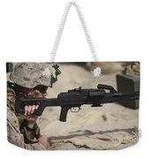 U.s. Marine Prepares To Fire A Pk Weekender Tote Bag