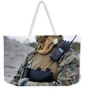 U.s. Marine Provides Security Weekender Tote Bag