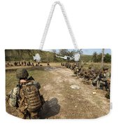 U.s. Marines Provide Security Weekender Tote Bag