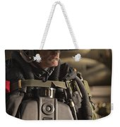 U.s. Navy Seal Equipped With Night Weekender Tote Bag