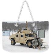 U.s. Soldiers Take Cover Weekender Tote Bag