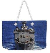 Uss Comstock Transits The Indian Ocean Weekender Tote Bag