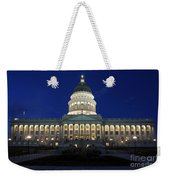 Utah Capitol Building At Twilight Weekender Tote Bag