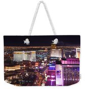 Vegas Strip At Night Weekender Tote Bag