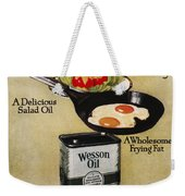 Vegetable Oil Ad, 1918 Weekender Tote Bag