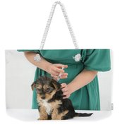 Vet Giving Pup Its Primary Vaccination Weekender Tote Bag