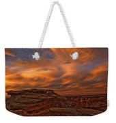 Vibrant Sunset Over The Rim Of Canyon Weekender Tote Bag