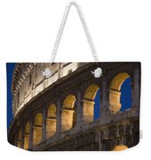 View Of The Roman Coliseum In Rome Weekender Tote Bag