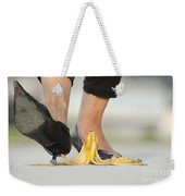 Walking On Banana Peel Weekender Tote Bag