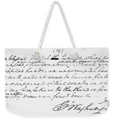 Washington: Farewell, 1796 Weekender Tote Bag