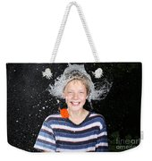 Water Balloon Popped Above Boys Head Weekender Tote Bag
