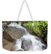 Water Cascading Over Rocks, Mount Hood Weekender Tote Bag