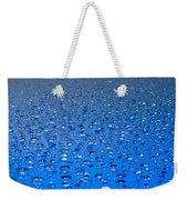 Water Drops On A Shiny Surface Weekender Tote Bag