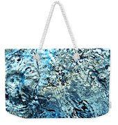 Water In A Pool Which Lock Like A Frozen Water Stream Of A River Weekender Tote Bag