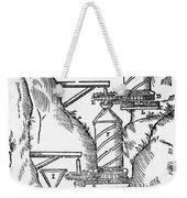 Watermill, Reversed Archimedean Screw Weekender Tote Bag