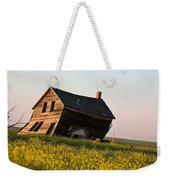 Weathered Old Farm House In Scenic Saskatchewan Weekender Tote Bag