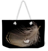 Wet Feather Weekender Tote Bag