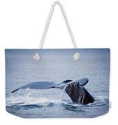 Whales Fluke Weekender Tote Bag