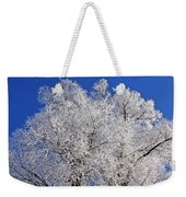 White Frost Tree  Weekender Tote Bag