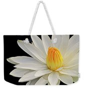 White Waterlily Weekender Tote Bag