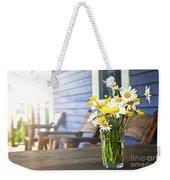 Wildflowers Bouquet At Cottage Weekender Tote Bag