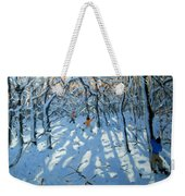 Winter Woodland Near Newhaven Derbyshire Weekender Tote Bag