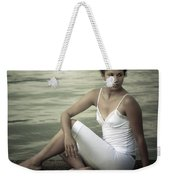 Woman At A Lake Weekender Tote Bag