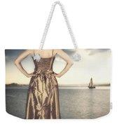 Woman At The Lake Weekender Tote Bag