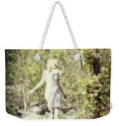 Woman In A Forest Weekender Tote Bag