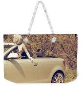 Woman In Convertible Weekender Tote Bag by Joana Kruse