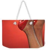 Woman In Red High Heel Shoes Weekender Tote Bag