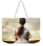 Woman On A Meadow Weekender Tote Bag