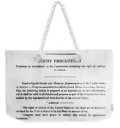 Womens Rights Movement Weekender Tote Bag