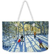 Woodland In Winter Weekender Tote Bag