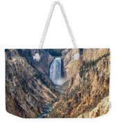 Yellowstone Lower Falls Weekender Tote Bag