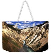 Yellowstone River Below Lower Falls  Weekender Tote Bag