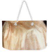 Young Lady Sitting In Satin Gown Weekender Tote Bag