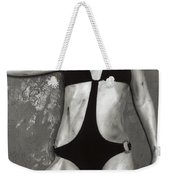Young Woman With Rope Bondage Standing At A Window Weekender Tote Bag