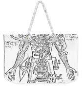Zodiac Man, Medical Astrology Weekender Tote Bag