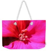 Zonal Geranium Named Tango Neon Purple Weekender Tote Bag