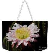 Pink Cactus Flower Weekender Tote Bag