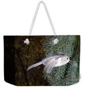 Tufted Titmouse In Flight Weekender Tote Bag