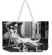 Silent Film Still: Woman Weekender Tote Bag by Granger