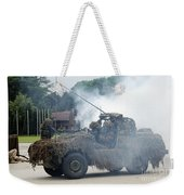 A Recce Or Scout Team Of The Belgian Weekender Tote Bag by Luc De Jaeger