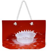 Milk Splash Weekender Tote Bag